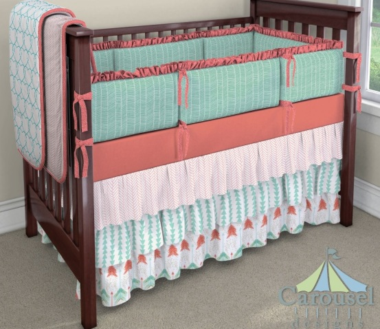 Coral & Teal Bedding
